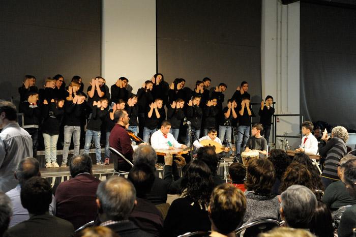 Els músics de l'Escola de música del Socors Popular Libanès durant els dos concerts a Artés i Barcelona